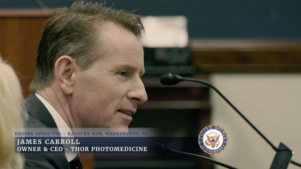James Carroll, CEO and founder of THOR Photomedicine