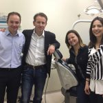 James Carroll with our group at São Paul State Cancer Center, Brazil